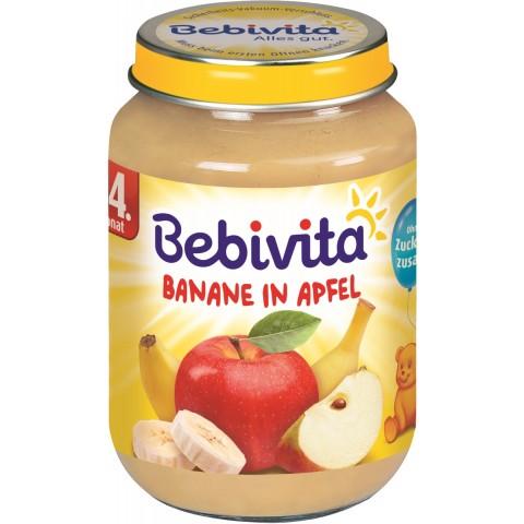 Bebivita Banane in Apfel nach dem 4. Monat groß