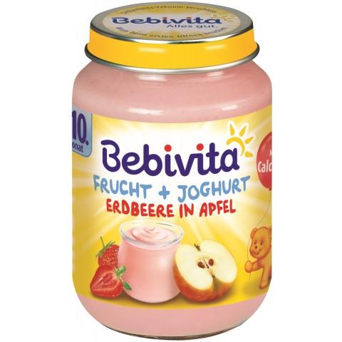 Bebivita Frucht + Joghurt Erdbeere in Apfel ab dem 10. Monat