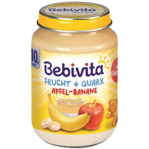 Bebivita Frucht + Quark Apfel-Banane ab dem 10. Monat