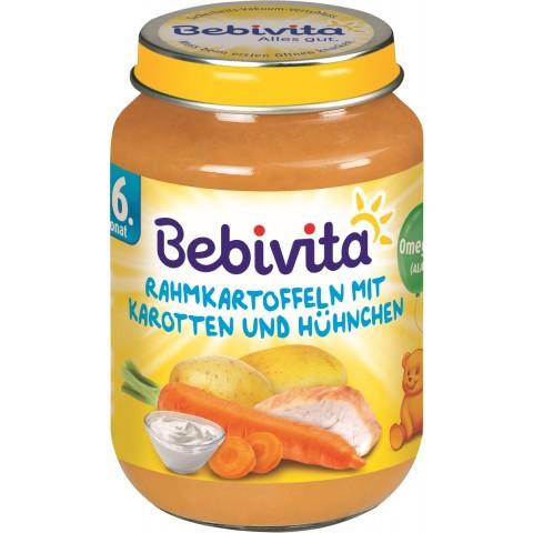 Bebivita Rahmkartoffeln mit Karotten und Hühnchen