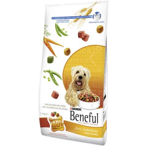 Beneful Zarte Leckerbissen reich an Fleisch mit Gemüse Trockenfutter für Hunde 1,4 kg
