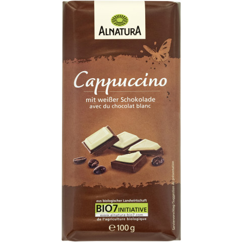 Alnatura Bio Schokolade Cappuccino mit weißer Schokolade 100 g