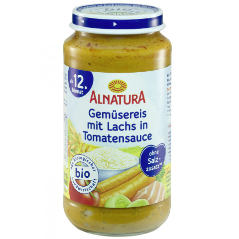 Bio Alnatura Gemüsereis mit Lachs ab dem 12.Monat 250 g