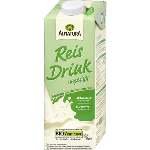 Alnatura Bio Reis Drink ungesüßt 1 ltr