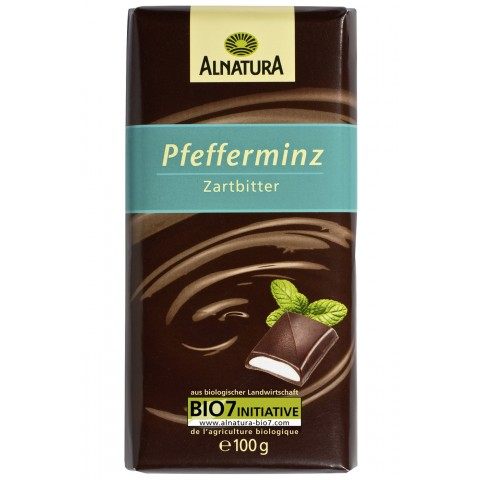 Alnatura Bio Pfefferminz Zartbitter Schokolade