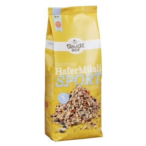 Bauckhof Bio glutenfreies Hafermüsli Sport ungesüßt 425 g