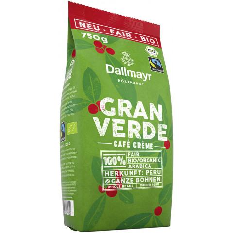 Dallmayr Bio Kaffee Gran Verde Café Crème Fairtrade ganze Bohnen 750G
