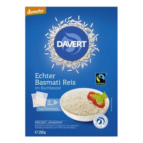 Davert Demeter Echter Basmati Reis im Kochbeutel 250 g