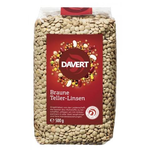Davert Bio Braune Teller-Linsen