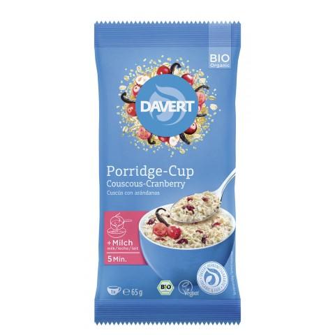 Davert Bio Porridge-Cup Couscous-Cranberry