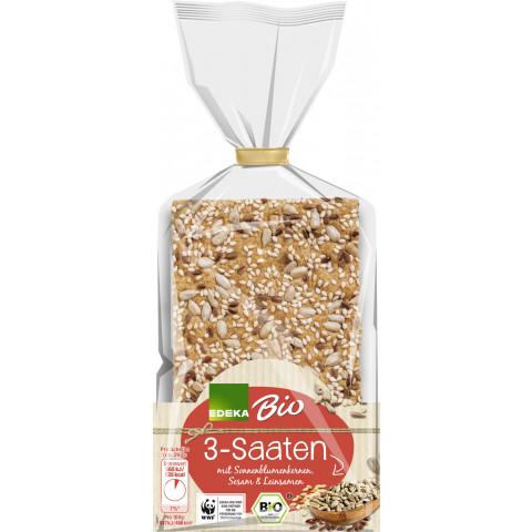 Edeka Bio 3 Saaten Knäckebrot 200 g