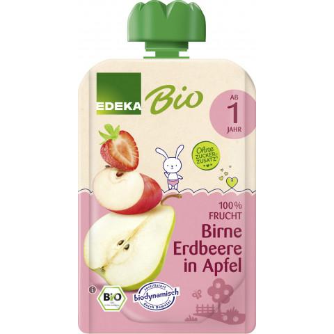 EDEKA Bio Birne & Erdbeere in Apfel ab 1.Jahr 100G