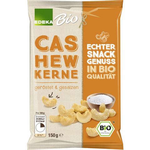 Edeka Bio Cashewkerne geröstet & gesalzen 125 g