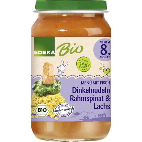 EDEKA Bio Dinkelnudeln Rahmspinat & Lachs ab dem 8.Monat 220G