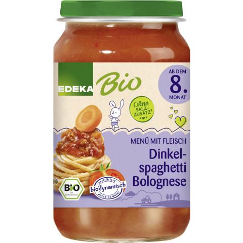 EDEKA Bio Dinkelspaghetti Bolognese ab dem 8.Monat 220G