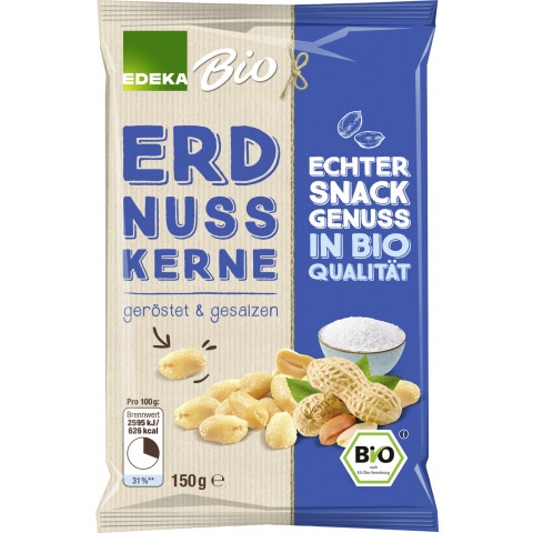 Edeka Bio Erdnusskerne geröstet & gesalzen 150 g