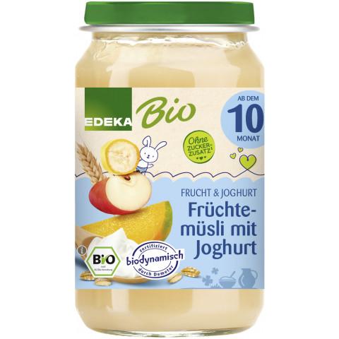 EDEKA Bio Früchtemüsli mit Joghurt ab dem 10.Monat 190G