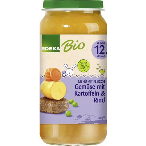 EDEKA Bio Gemüse mit Kartoffeln & Rind ab dem 12.Monat 250G