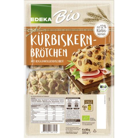 EDEKA Bio Kürbiskernbrötchen 4x 80G