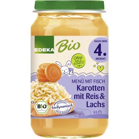 EDEKA Bio Karotte mit Reis & Lachs nach dem 4.Monat 190G
