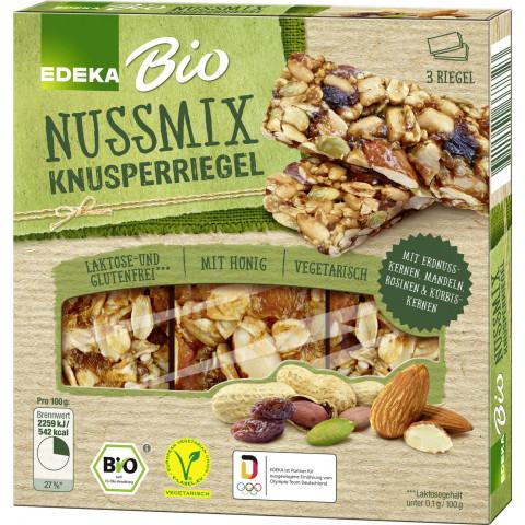 EDEKA Bio Knusperriegel Nussmix 3x 25 g