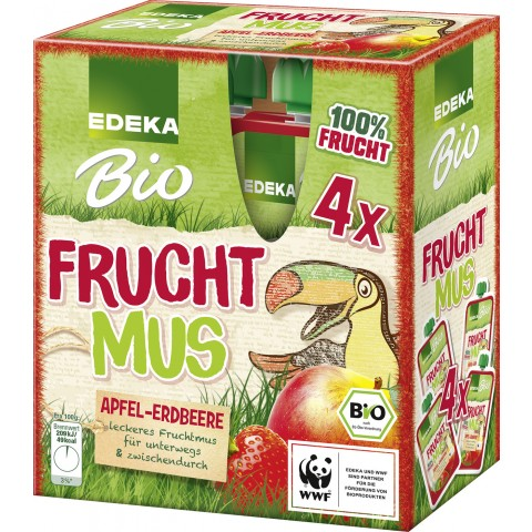 EDEKA Bio Frucht-Mus Apfel-Erdbeere