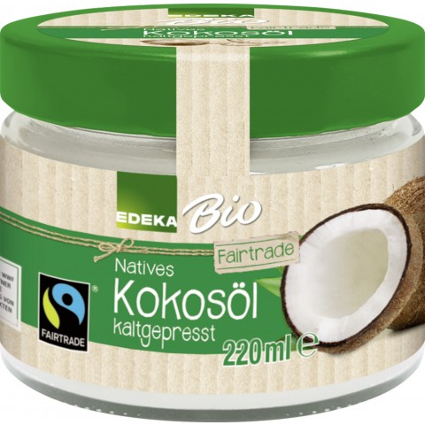 EDEKA Bio Natives Kokosöl kaltgepresst Fairtrade 220 ml