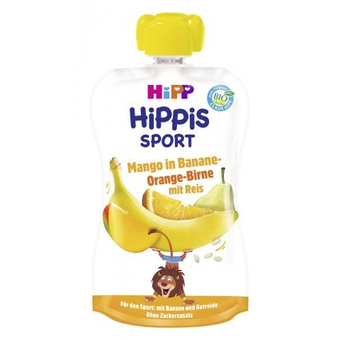 Hipp Bio Hippis Sport Mango in Banane-Orange-Birne mit Reis