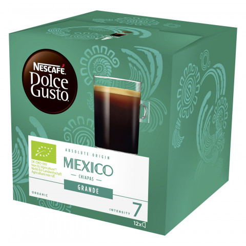 Nescafé Dolce Gusto Bio Mexico Chiapas Grande 12x 9G