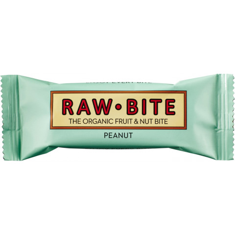 Raw Bite Bio Peanut Riegel 50 g