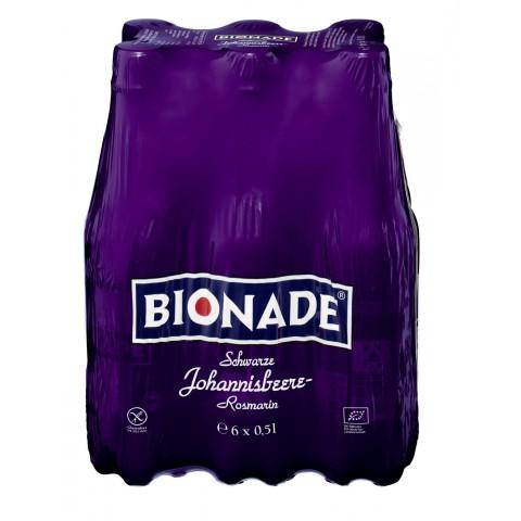 Bionade Bio Schwarze Johannisbeere Rosmarin 6x 0,5 ltr PET