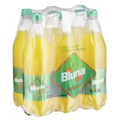 Bluna Orange 6x 1 ltr PET