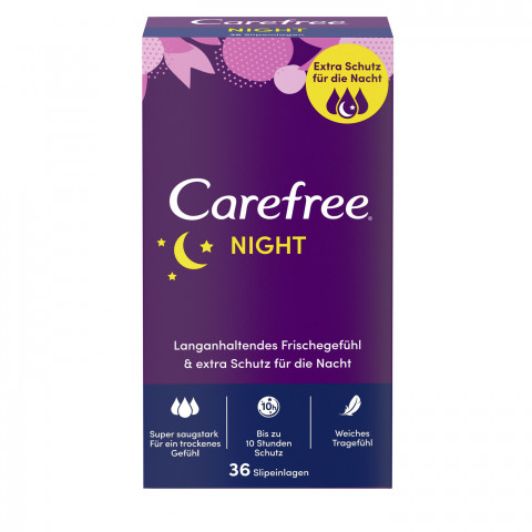 Carefree Night Slipeinlagen 36ST