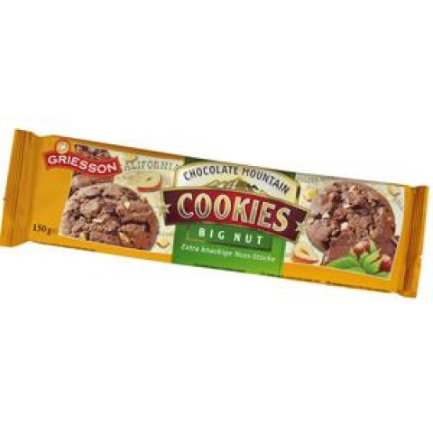 Griesson Chocolate Mountain Cookies Big Nut 150 g