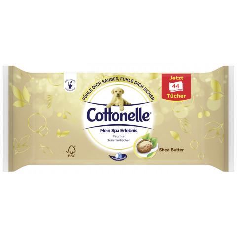 Cottonelle Feuchtes Toilettenpapier Mein Spa Erlebnis Shea Butter Nachfüllpackung 44 Stück