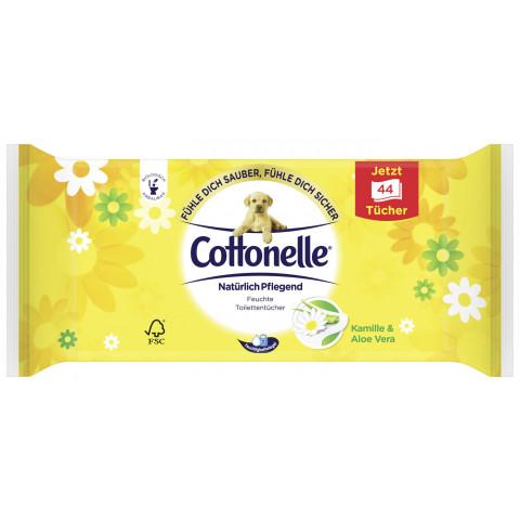 Cottonelle Feuchtes Toilettenpapier natürlich pflegend Nachfüllpackung 44 Stück