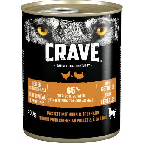 Crave mit Huhn und Truthahn Hundefutter nass 400G