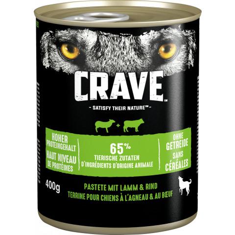 Crave mit Lamm und Rind Hundefutter nass 400G
