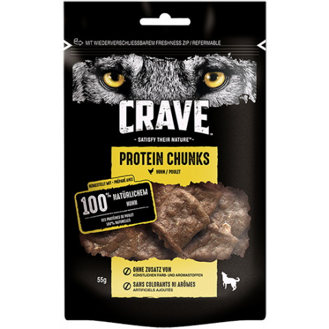 Crave Protein Chunks Huhn 55G