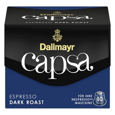 Dallmayr Capsa Espresso Dark Roast Intensität 11 Nespresso kompatible Kapseln 10x 5,6 g