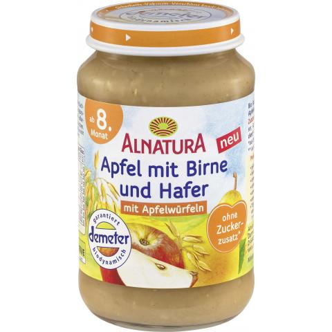 Alnatura Demeter Apfel mit Birne und Hafer 190 g