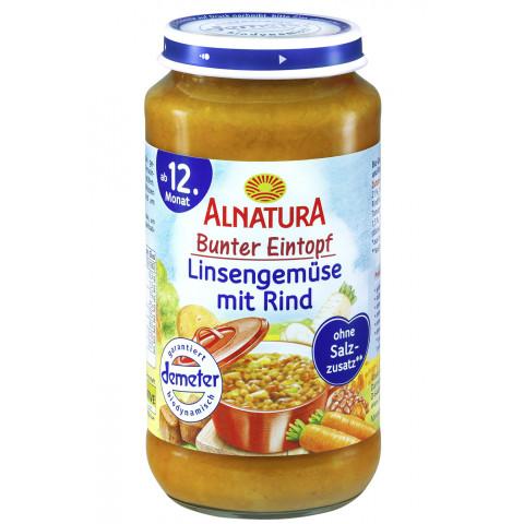 Alnatura Demeter Bio Bunter Eintopf Linsengemüse mit Rind ab dem 12.Monat 250 g