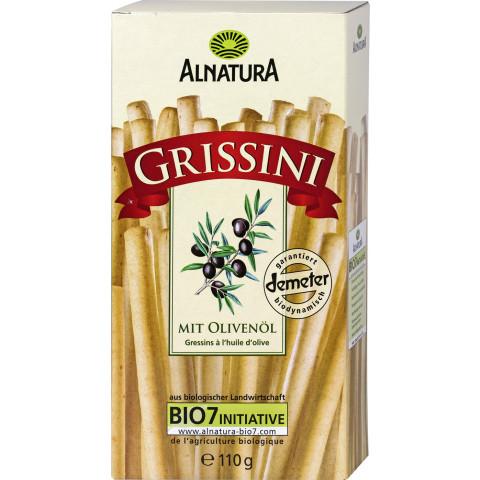 Alnatura Bio Grissini mit Olivenöl 110G