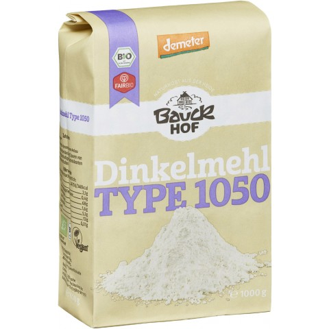 Bauckhof Demeter Bio Dinkelmehl Type 1050 1 kg
