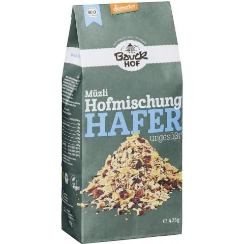 Bauckhof Demeter Bio Müzli Hofmischung Hafer ungesüßt 425 g