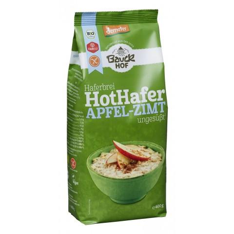 Bauckhof Demeter Bio Haferbrei Hot Hafer Apfel-Zimt ungesüßt 400 g
