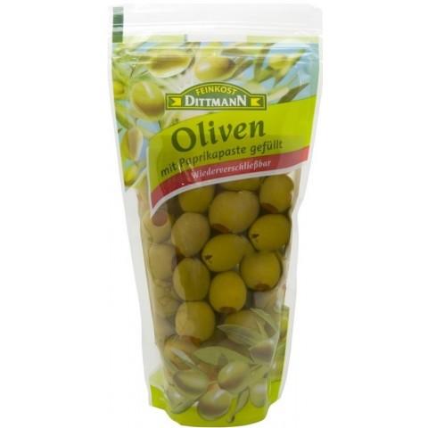 Dittmann Grüne Oliven mit Paprikapaste