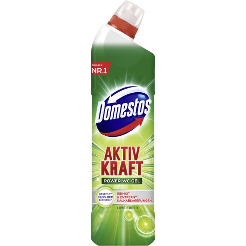 Domestos Aktiv Kraft WC Gel Lime Fresh 0,75 ltr