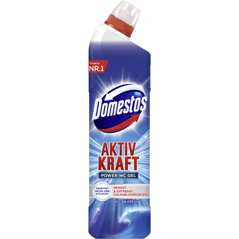 Domestos Aktiv Kraft WC Gel Ocean Fresh 0,75 ltr