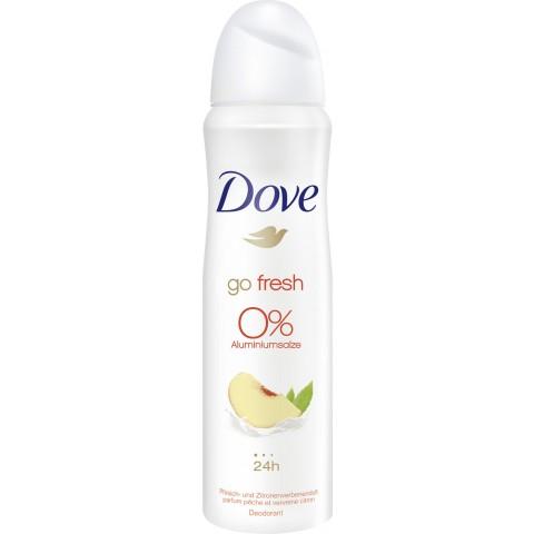 Dove Deo-Spray Go Fresh Pfirsich & Zitrone 0% Aluminiumsalze 150 ml